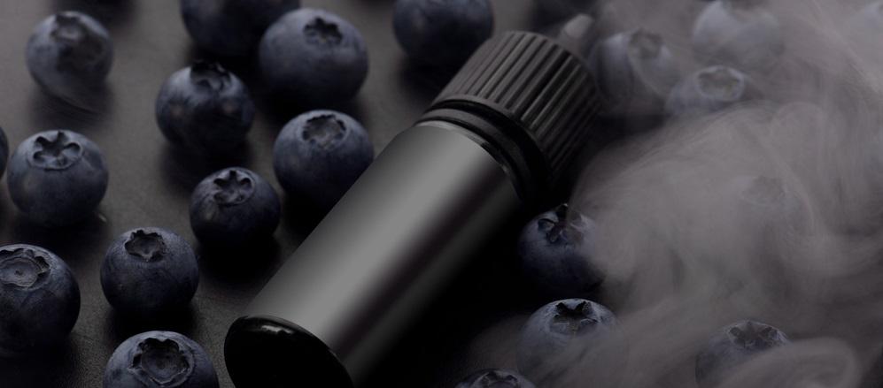 bottle of salt nicotine with berries